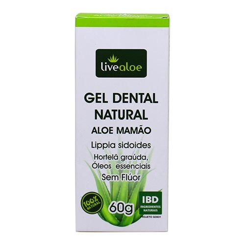 Gel Dental Natural (Sem Flúor) Livealoe 60g