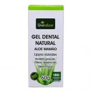 Gel Dental Natural Aloe Mamão (Sem Flúor) Livealoe 70g