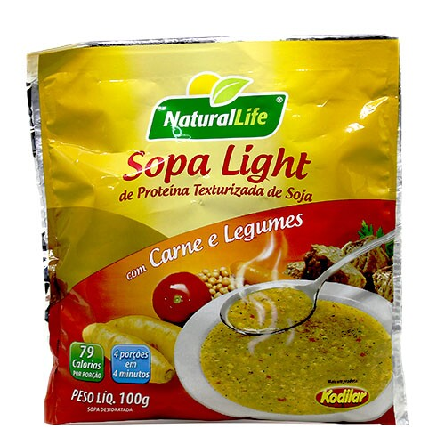 Sopa Light Sabor Carne e Legumes Natural Life 100g