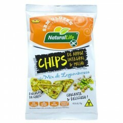 Chips de Arroz Integral e Milho Sabor Mix de Leguminosas Natural Life 70g