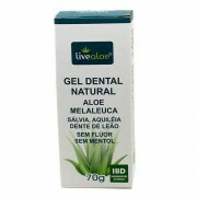 Gel Dental Natural Aloe Melaleuca (Sem Flúor) Livealoe 70g