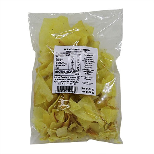 Mandioca Chips Sabor Lemon Pepper 80g