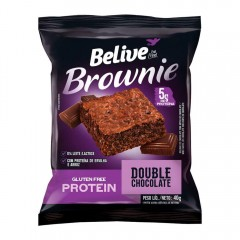Brownie Protein Sabor Double Chocolate Belive 40g