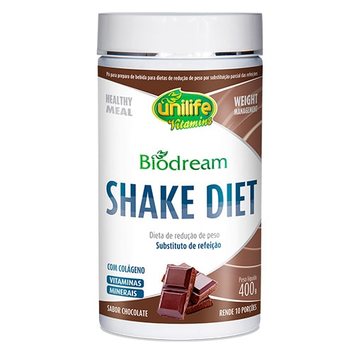 Biodream Shake Diet Sabor Chocolate Unilife 400g