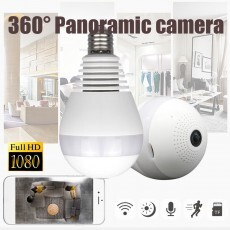 Lâmpada Espiã Wifi 360º Full HD