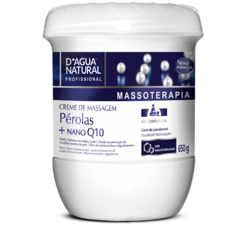 Creme de Massagem Pérola 650g - D\'agua Natural