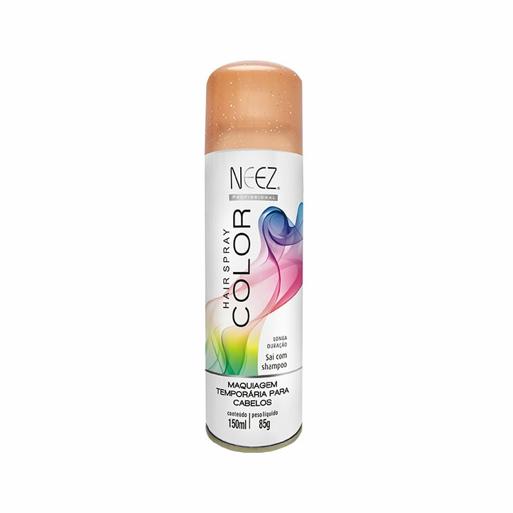 Hair Spray  Colors Neez Dorado com Glitter