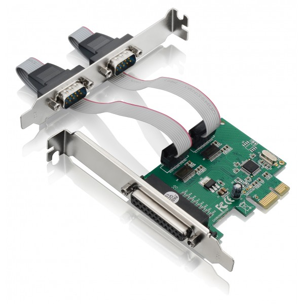 Placa PCI-E X1 2 Serial + 1 Paralela GA128 Multilaser