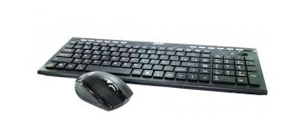 Teclado + Mouse Multimidia Wifi Preto 1857 Pisc