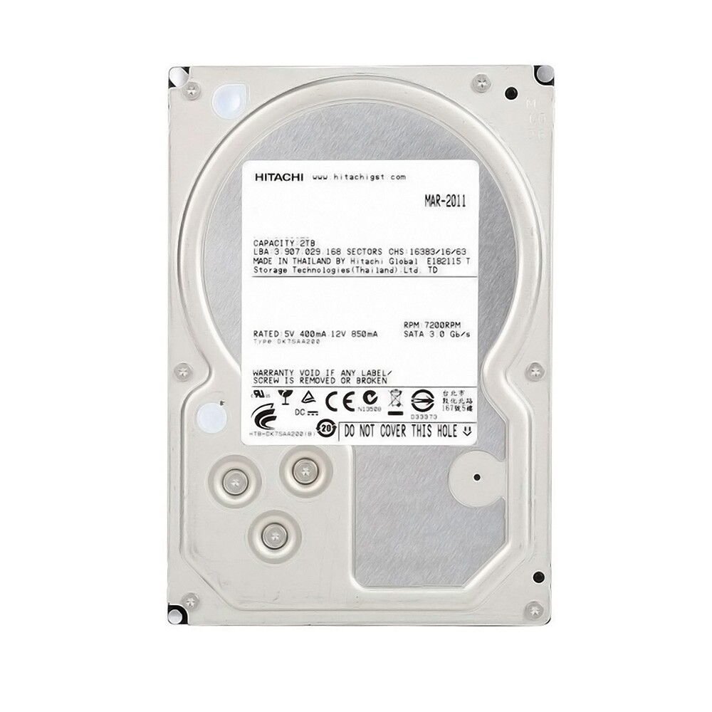 HD PC 2TB Sata 2 7200rpm  PN HUA722020ALA331 Hitachi