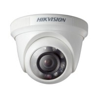 Camera TVI Dome 1Mp 20m 3.6mm 1/3 24 Leds DS-2CE56C0T-IRP Hikvision