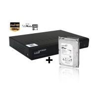 Kit DVR 8 Canais Luxvision + 1 Hd de 1TB