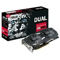 Placa de Video  RX 580 8GB GDDR5 DUAL-RX580-O8G ASUS 90YV0AQ1-M0NA00