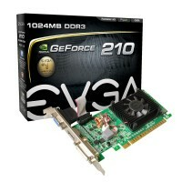 Placa de Video GPU GT 210 1GB DDR3 64BITS PCI-E EVGA 01G-P3-1312-LR