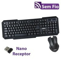 Teclado + Mouse Wireless 0055 Bright