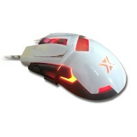 Mouse Gamer USB 7D X Soldado c/ Iluminacao Led RGB Cabo Nylon GM-720