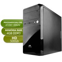 Computador Home Integrado D2500 Dual Core 1.8Ghz 4Gb 500Gb