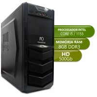 Desktop Intermediario 1155 - Intel Core i5, Ddr3 8Gb, Hd 500Gb