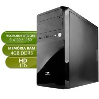Computador Home i3 4130 3,4Ghz 4Gb Ddr3 1Tb