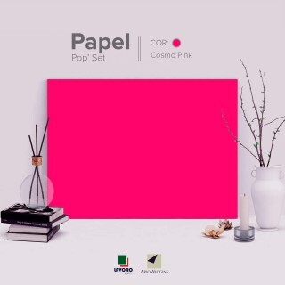 Papel Pop Set - Cosmo Pink 240g 30,5x30,5 - 30 Folhas