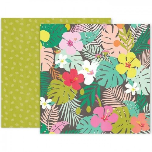 Papel Confetti Wishes 08 - Pink Paislee - 30,5x30,5