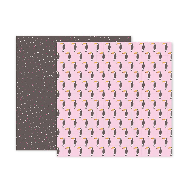 Papel Confetti Wishes 11 - Pink Paislee - 30,5x30,5