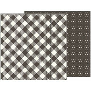 Papel Buffalo Check - Jen Hadfield - Heart of Home Collection 180g 30,5x30,5
