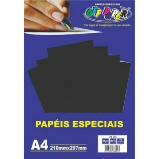 PAPEL PLUS PRETO 120 A4 20 FLS