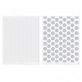Placas de Embossing Folder Revolution - Dots (2 Placas)