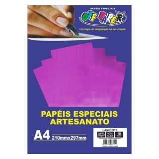 Papel Lamicote Rose Gold A4 250G 10 Fls - Off Paper