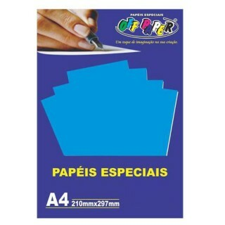 Papel Plus Azul 180G A4 20 Fls - Off Paper