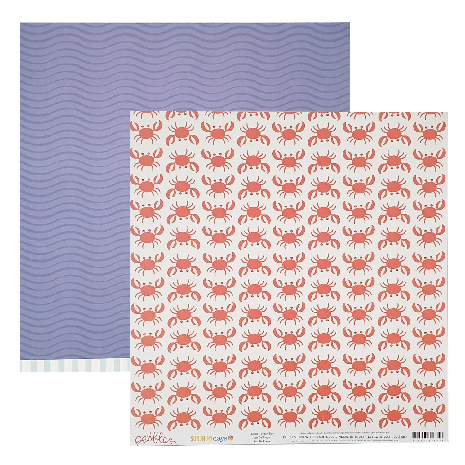 Papel Beach Day - Sunshiny Days - Pebbles Collection 180g 30,5x30,5