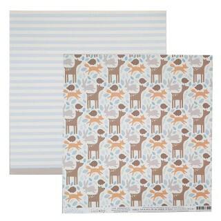 Papel Woodland Baby Boy - Lullaby - Pebbles Collection 180g 30,5x30,5