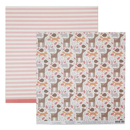 Papel Woodland Baby Girl - Lullaby - Pebbles Collection 180g 30,5x30,5