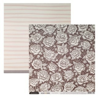 Papel Pretty Peony - Jen Hadfield - Heart of Home Collection 180g 30,5x30,5