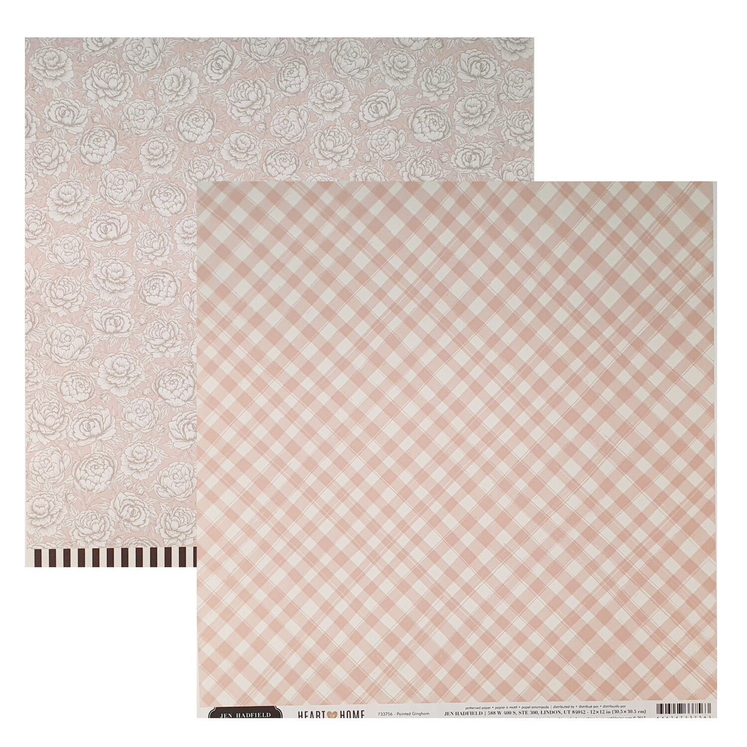 Papel Painted Gingham - Jen Hadfield - Heart of Home Collection 180g 30,5x30,5