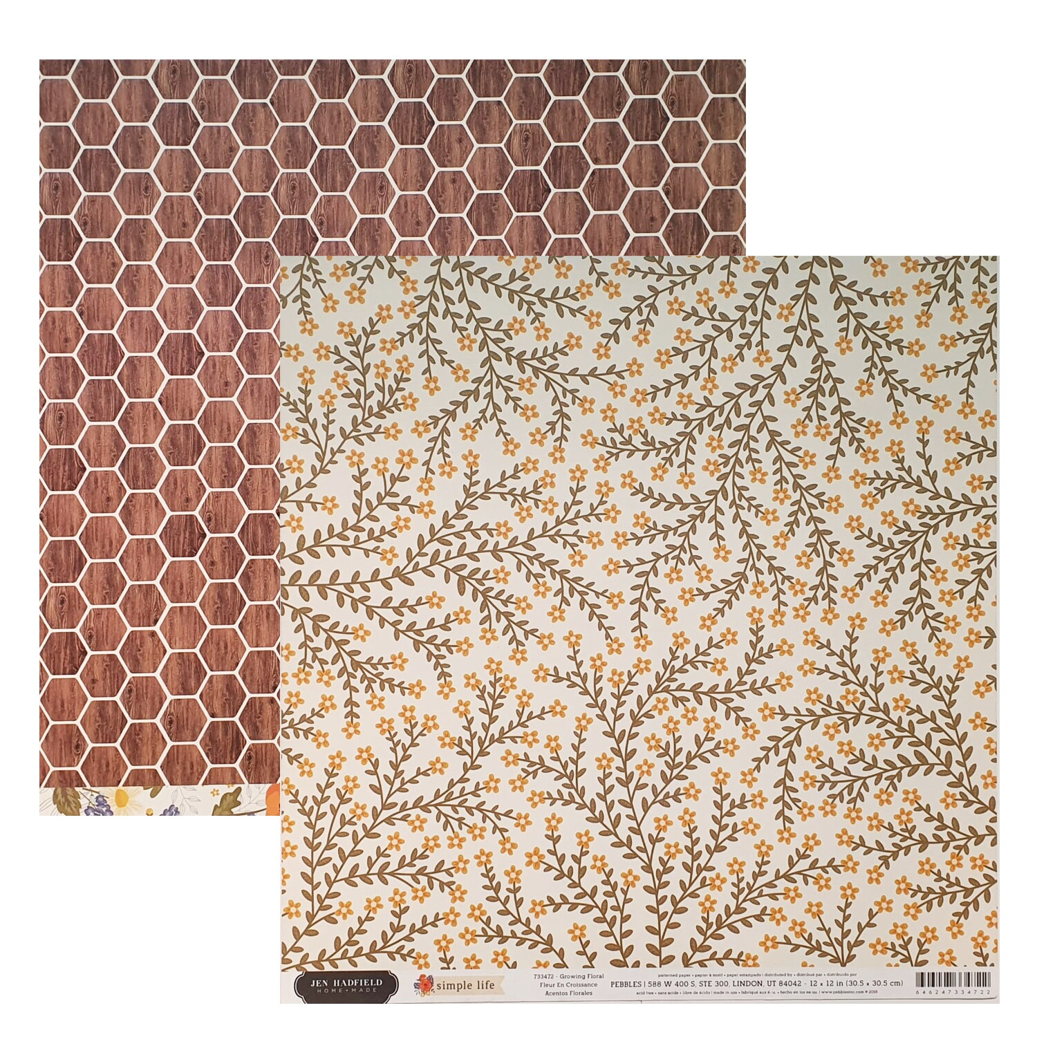 Papel Growing Floral - Jen Hadfield - Simple Life Collection 180g 30,5x30,5