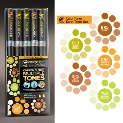 Kit Canetas Chameleon Color Tunes - Earth Tones