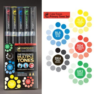 Kit Canetas Chameleon Color Tunes - Primary Tones