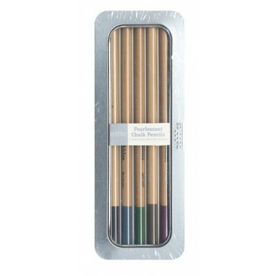 Kit Chalk Pencil Pearlescent Pebbles Shimmer Shades (Lápis)
