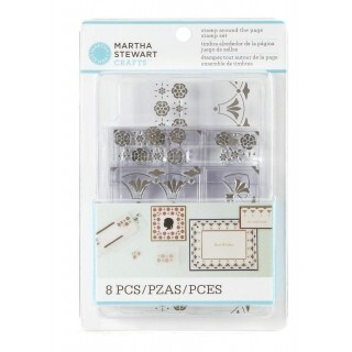 Kit 6 Carimbos Stamp Around The Page - Martha Stewart Crafts