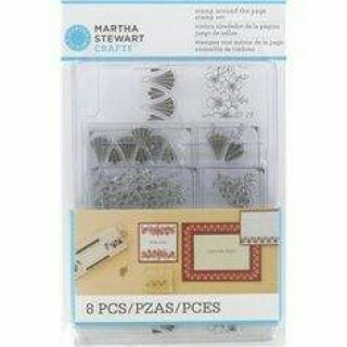 Kit 8 Carimbos Stamp Aroud The Page - Martha Stewart Crafts