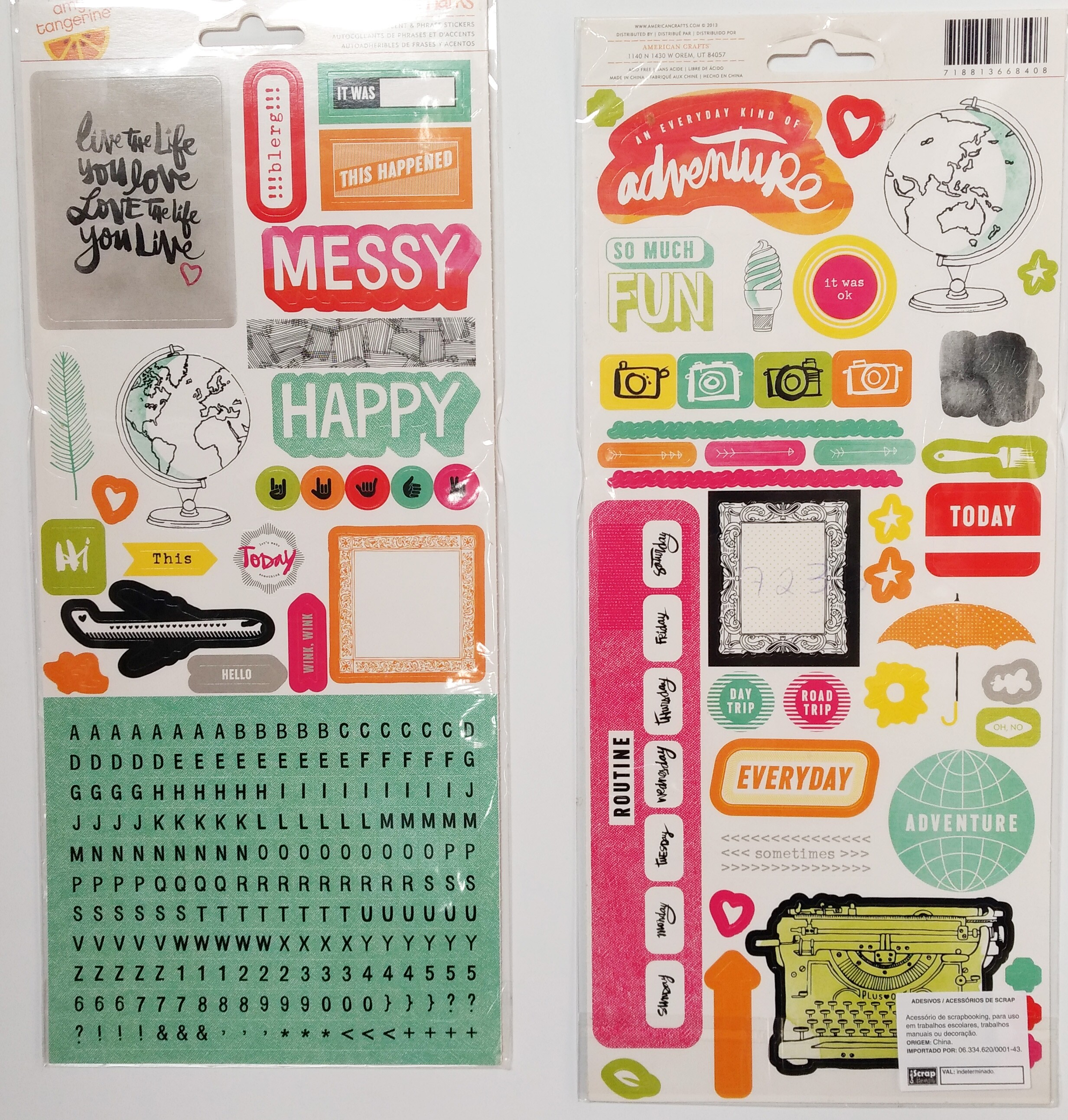 Adesivos Amy Tangerine Remarks Thickers American Crafts - Plus One Stickers