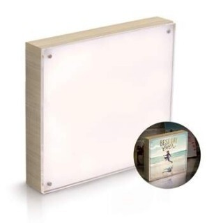 Porta Retrato Luminoso PhotoLights We R Memory Keepers NATURAL WOOD FRAME - 5x7