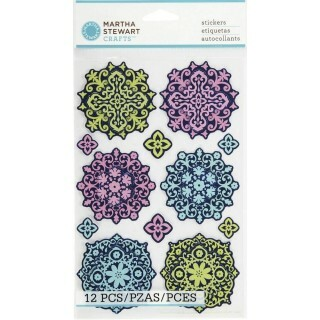Adesivos Decorativos Damask Layered Ornament Stickers - Martha Stewart Crafts
