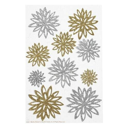 Adesivo Ouro e Prata Chrysanthemum Doily Lace Collection - Martha Stewart Crafts
