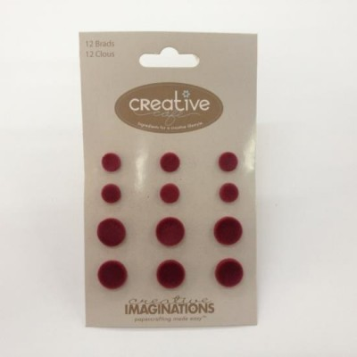 Bailarinas Velvet Brads Dark Red - Creative Imaginations