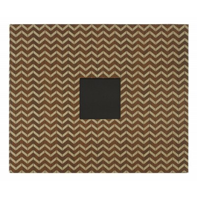 Álbum 12x12 D Ring - Woodgrain Chevron - American Crafts