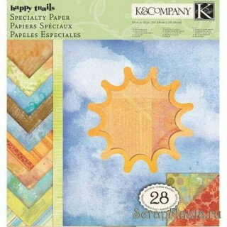 Kit de Papéis Happy Trails c/ 28 unidades 30,5x30,5 - K&Company
