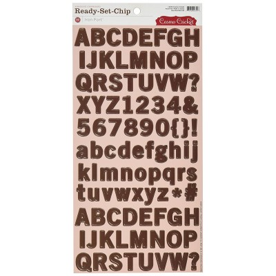 Adesivos - Cosmo Cricket Iron Port Ready Set Chipboard -